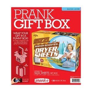 Prank Pack Mini Joke Gift Box Bacon Dryer Sheets